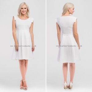 Expected by Lilac Clothing White Maternity Dress